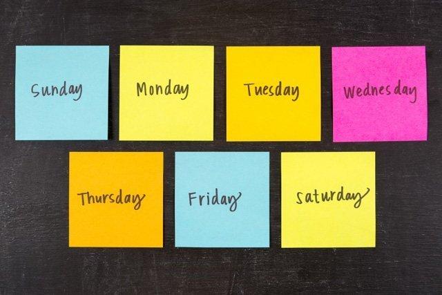 Días De La Semana Meses Y Estaciones Del Año En Inglés Blablalang