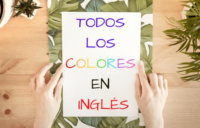 Todos los colores en inglés