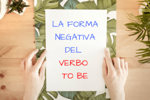 Negativa del verbo To be